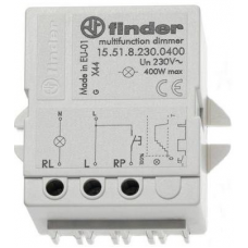 15.51.8.230.0400 (400W) 230V AC, Finder 15 serisi Elektronik Adım rölesi ve Dimmer