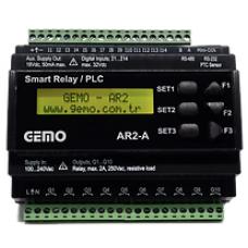 AR2-A-230VAC-12D2A-RTC Ray Tipi Ladder Logic ile Programlanabilir PLC Akıllı Röle