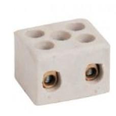 140NO0-2 li 20 x 17 x 14,5 mm M3 Kablo Ölçüsü :2,5-4 mm² Porselen Klemens