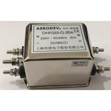 DNF055-G-20A 250 V AC 50~60 Hz 20 Amper Tek Faz EMI Filtre