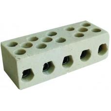 144 No1-5 li 58 x 23 x 18,5 mm M3 kablo kesiti ,2,5-4 mm² Porselen Klemens