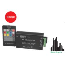 18A 12-24 V DC Sese Duyarlı RGB Led Kontrol Cihazı