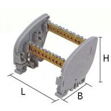 2K-10 88 x  80 x 85 mm  (7 x 12 mm Kesit ) 25 lik Kablo Kesitli 2 Kutuplu Dağıtıcı Ünitesi