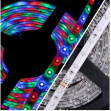 Tek Çip Multi Color 12 Volt Animasyonsuz RGB iç Mekan ŞeritLed