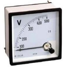 3S-T72V 72X72 0-250 VAC Panel Tipi Analog Voltmetre