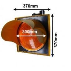 AS8042 220 V Tek Işıklı Sabit Yanan Trafik Lamba