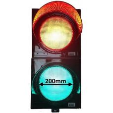 AS8035 280 x 570 mm 220 V 2MT20L Fabrikalar İçin 2 Işıklı LED Giriş Çıkış Lamba