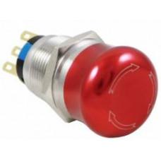 D96-1 19 mm 1NO-1NC Metal Acil-Stop