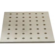 KDP4050 Kordierit Plaka 400 x 500 x 15 mm delikli Fırın Rafı