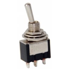 IC-148 MOM-OFF-MOM Ø6mm Toggle Yaylı Switch
