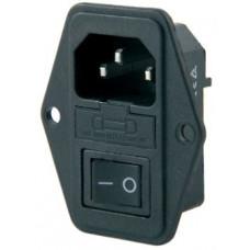IC-214K Erkek Anahtarlı Fuseli Kulaklı Sertifikalı Power Soket