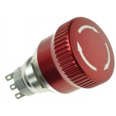 19mm Metal Acil-Stop Bas-Çevir 1NO/1NC IP65