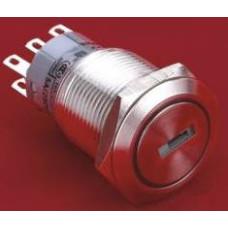 LAS1-AGQ-11Y-21 0-I IP65 19mm Metal Anahtarlı Switch