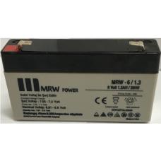 MRW-12-1.3 12 V dc 1.3 Ah Kurşun -Kuru tip Akü