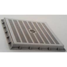 TP5050GK 50 x 50cm Izgaralı Gri Kapak ve Çerçevesi