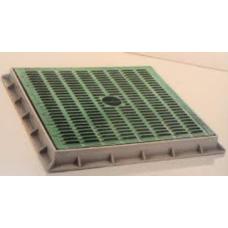 TP5555IYK 55 x 55cm Izgaralı Yeşil Kapak ve Çerçevesi