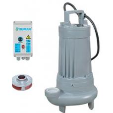 Sumak SDT 30-3 Açık Fanlı (Vortex) Atık Su ve Foseptik Dalgıç Pompası