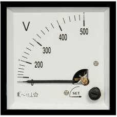 ST396 96x96 90°Döner bobinli ve oynar Demirli DC Voltmetre
