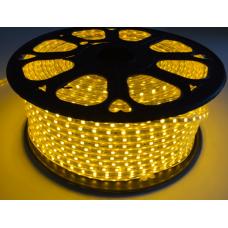 5050 3 Çipli 220 V AC 50 mt Sarı Hortum Led