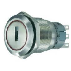 19mm Metal Anahtarlı Switch 0-I IP65