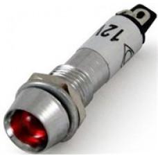 IC-225 Ø8 mm 12 V Metal Sinyal Lambası