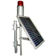 0601,20W,Panel Solar Ledli Uçak İkaz Lambası