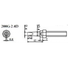 200-2.4 D QUICK Havya Ucu 2.4 mm