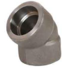 ASTM A 105 Soketli 45° Dirsek SW - Geçme Kaynaklı Dövme Karbon Çelik